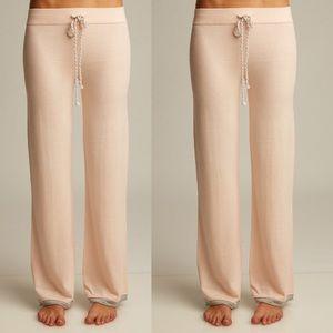 Lemon 🍋 Collections lounge cashmere pants blush